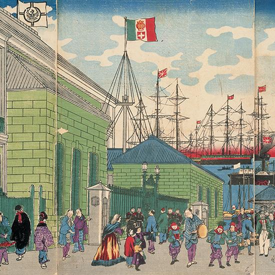 横浜佛国役館之全図