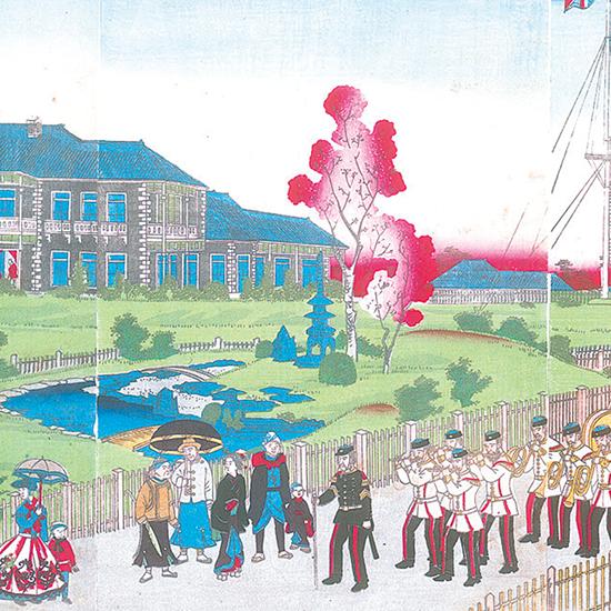 横浜高台英役館之全図